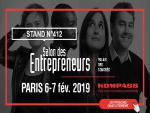 Kompass vous attend au Salon des Entrepreneurs 2019